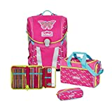 Scout Sunny Schulrucksack Set 4 tlg. Pink Butterfly
