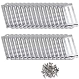 D-Worthy 30 Pieces Metal Office Library File Drawer Cabinet Card Tag Label Holder Frames with Screws (Silver Tone)