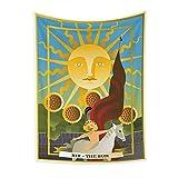 KHKJ India Bruja Tarot Tarjeta astrología adivinación Hippie Mandala Tapiz psicodélico tapices de Pared decoración del hogar A20 150x130cm