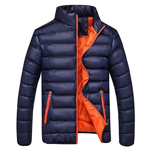 Adelina heren winterjas gewatteerde jas sweatjas buiten staander rits gewatteerde mannen winter warm modieuze Completi vrije tijd rits zak donsjassen opstaande kraag mantel sale