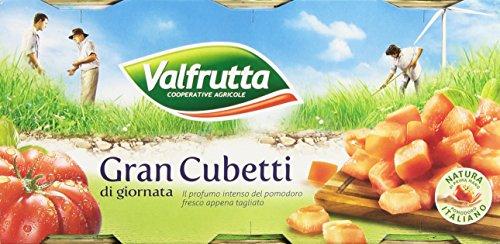 Valfrutta - Gran Cubetti, Polpa Di Pomodoro Senza Glutine - 8 confezioni da 3 pezzi da 400 g [24 pezzi, 9600 g]