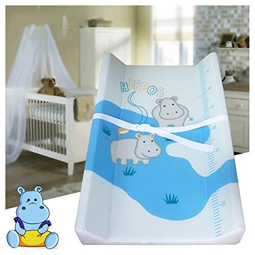 HBIAO Matelas Plan à Langer pour bébé, Protection de l'environnement Safety Oil Dirt Layer Diaper Table Lamp Cotton Soft Fournitures pour mères et Enfants,B