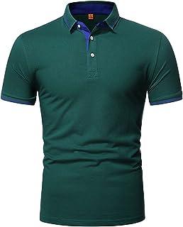 Gutsbox Męska koszulka polo z krótkim rękawem, klasyczna męska koszula polo