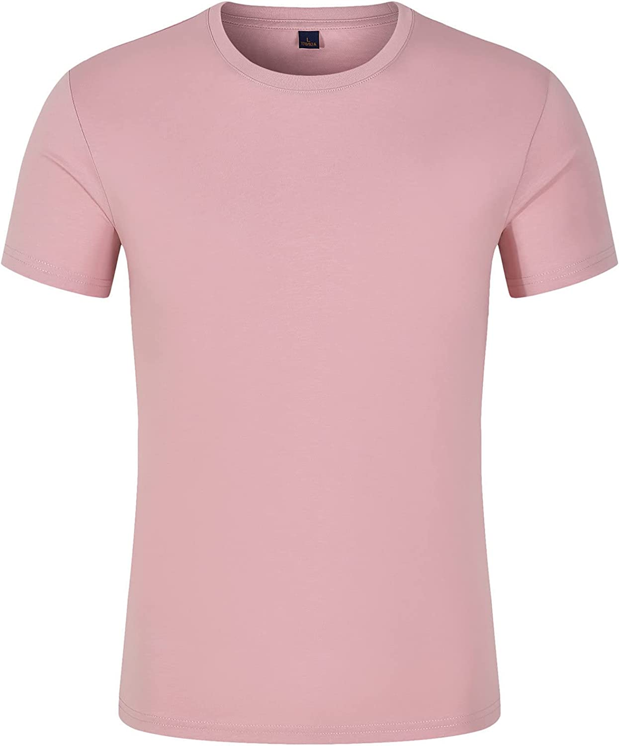 Casual Short Sleeve Cotton Tee Top for Men Dry-Fit Moisture Wicking Active Athletic Performance Crew T-Shirt