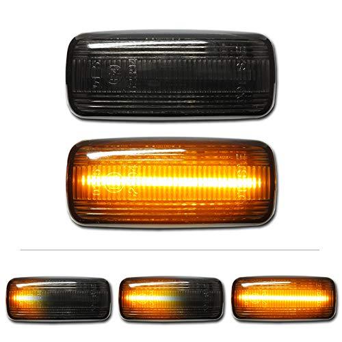 mts schwarze dynamische LED Seitenblinker E-Prüfzeichen eintragungsfrei CAN-Bus fehlerfrei Paar Set