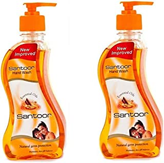 Santoor Sandalwood & Tulsi Hand wash One By One Pump Dispenser  (2 x 215 ml)