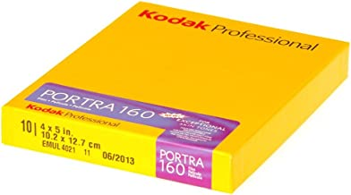Kodak 1710516 Professional Portra Color Film, ISO 160,  4 x 5 Inches, 10 Sheets (Yellow)