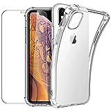 New&Teck Coque Compactible avec iPhone X/XS + [Verre Trempé Protection écran], Housse Etui en...