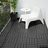 IKEA Bodenplatten 'RUNNEN' 9 Stück Terrassenfliesen je 30x30x2cm - 0,81 m² pro Paket - Klickfliesen in hellgrau