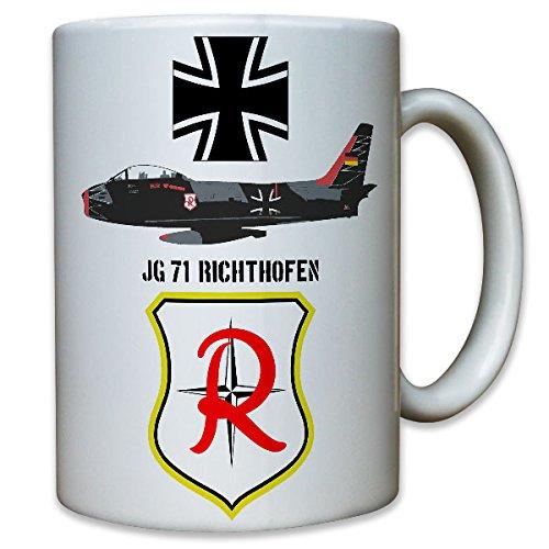 JG 71 jachtgezwader 71 Richthofen jachtvlieger nozzlejager luchtwapen EK militair - mok beker koffie #8786
