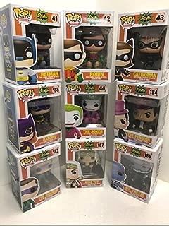 Batman 1966 Pop Series 1 & 2 Set – Batman – Robin – Joker – Catwoman – Mr. Freeze – King TUT – Batgirl – Penguin & Riddler