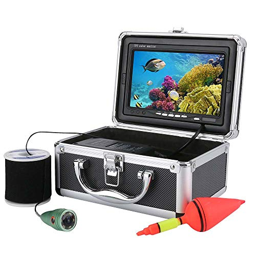 XINTONGSPP Buscador de Peces subacuáticos, HD de 7 Pulgadas 1000tvl Monitor de Color Kit de Video de Video de Pesca bajo el Agua, WiFi Wireless admite grabación de Video y Tome la Foto,50m