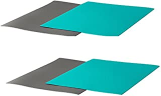 IKEA FINFORDELA Flexible chopping board, Dark gray, Dark Turquoise(Pack of 4)