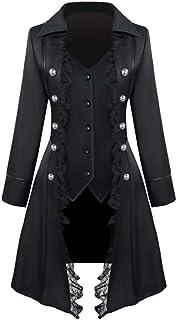 Modaworld Cappotto Lungo degli Donna, Cappotto Lungo da Donna Steampunk Gothic Vintage Giacca Donna Inverno Caldo Vintage ...