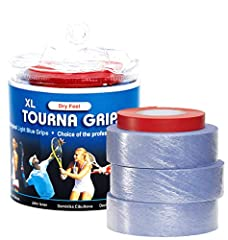 THE CHOICE OF PROFESSIONALS. Tourna Grip is the only grip that gets tacky the more you sweat. Tourna Grip starts with a Dry Feel but once you start sweating, the grip becomes more tacky and gives you a better grip. This is why it's so popular among p...