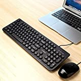 Gaming Warwolf Punk Wired Keyboard Wired Mouse Set (Color : Black)