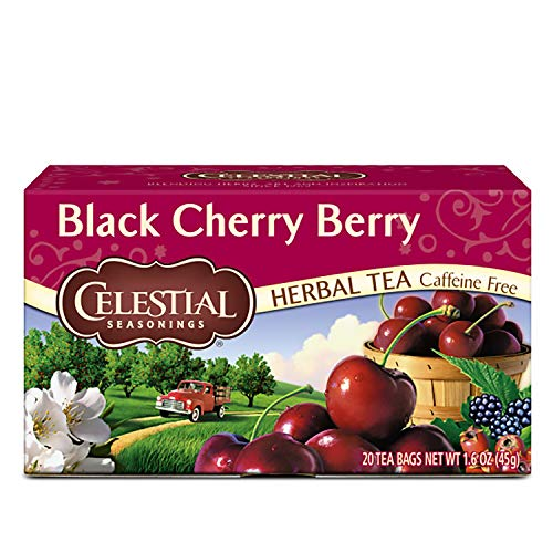 Celestial Seasonings Herbal Tea Black Cherry Berry 20 Count Pack of 6