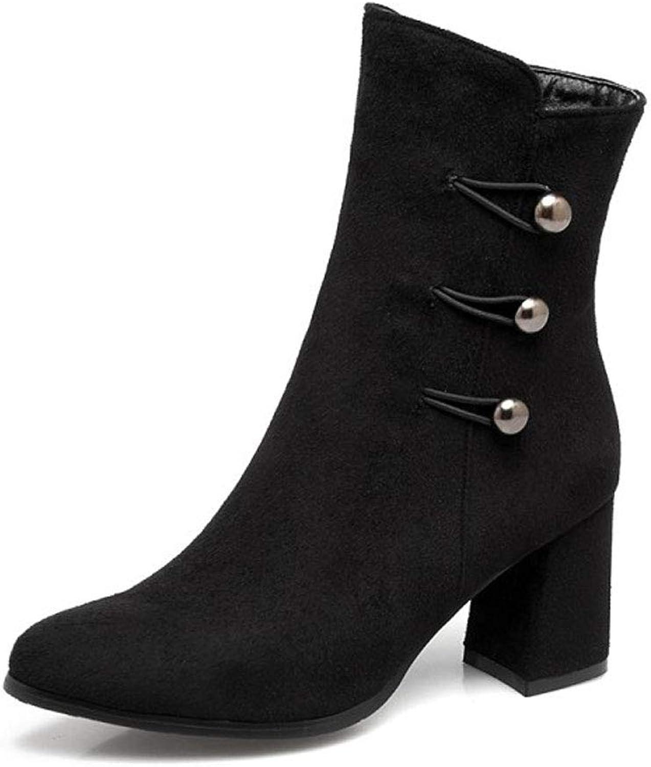 Högklackade skor med korta skor, tjocka kängor kängor kängor med spetsig gylf, vattentät plattform Martin stövlar Kvinnliga skor  förstklassiga kvalitet först