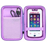 co2CREA Hard Travel Case Replacement for VTech KidiBuzz G2 Kids' Electronics Smart Device KidiConnect (Black Case + Inside Pink)