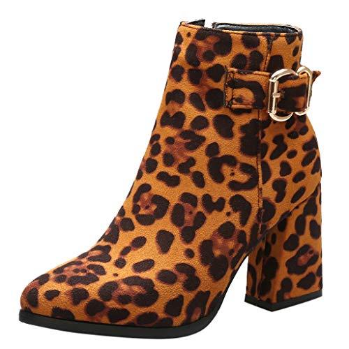 Posional Botas Para Mujer, Moda OtoñO Invierno Zapatos De Remaches Casuales Mujer Keep Warm Boot Botines...