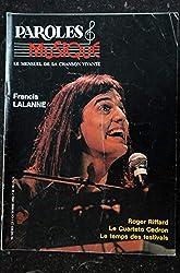 Paroles & Musique 1982 10 n° 23 Francis LALANNE - Roger Riffard - Le Cuarteto Cedron - 48 pages
