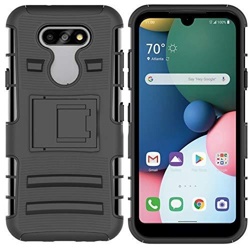 LWL House Caso para LG K31 Caja Protectora de teléfono móvil de buje Deslizante con Soporte (Color : Black)