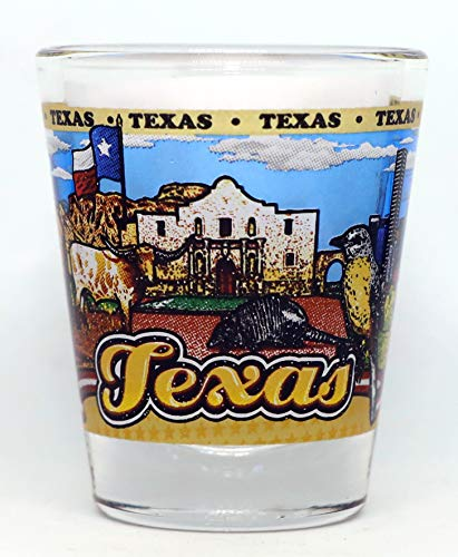 Texas State Wraparound Shot Glass