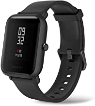 """Amazfit Bip Lite Smartwatch, 45-Day Battery Life, Heart Rate & Sleep Monitor, 1.2"""" Always-On Touchscreen, 3 ATM Water Resistant, Multisport Tracker, Black, Model Number: W1915IN1N"""