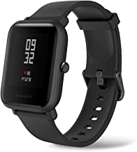 Amazfit Bip Lite by Huami with 45-Day Battery Life,24/7 Heart Rate and Activity Tracking 1.2 Inch Always-on Touchscreen 3 ATM, US Service and Warranty, Black