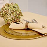 Kadut Cloth Napkins - 17 x 17 Inch Beige Solid Washable Polyester Dinner Napkins - Set of 12 Napkins with Hemmed Edges - Great for Weddings, Parties, Holiday Dinner & More