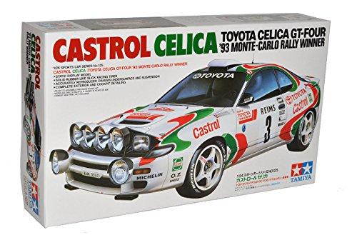 Tamiyia Toyota Celica GT-Four Rallye Monte Carlo Winner 1993 Kit Bausatz 24125 1/24 Modell Auto mit individiuellem Wunschkennzeichen