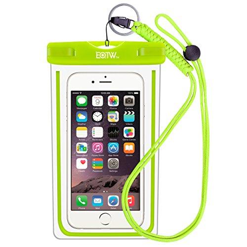 EOTW Funda Impermeable IPX8 Universal para Deportes acuaticos para iPhone XS MAX XR 8 7 6 Plus/BQ Aquaris/Huawei P30 P20 P10/Samsung S8 S7 y Otros Móviles hasta 7 Pulgadas. (Verde)