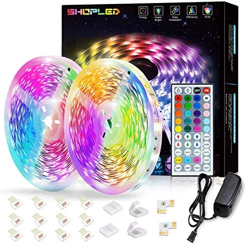 SHOPLED 32 8ft LED Strip Lights 10M RGB SMD 5050 LED Color Changing Light Strip Kits with IR product image