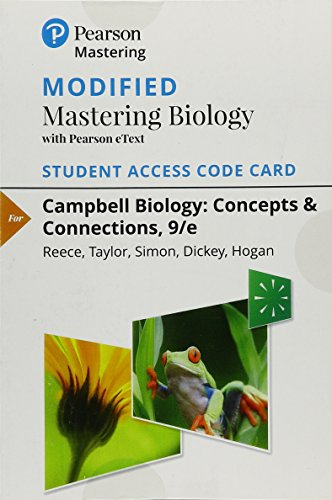 Price comparison product image Modified Mastering Biology with Pearson eText -- Standalone Access Card -- for Campbell Biology: Concepts & Connections (9th Edition)