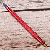 3 colores reloj prensatelas manual reloj kit de herramientas de reparación de ajustes de la mano doble cabezal fijo manos del reloj 11,2 cm / 4,4 pulg.(1 red)