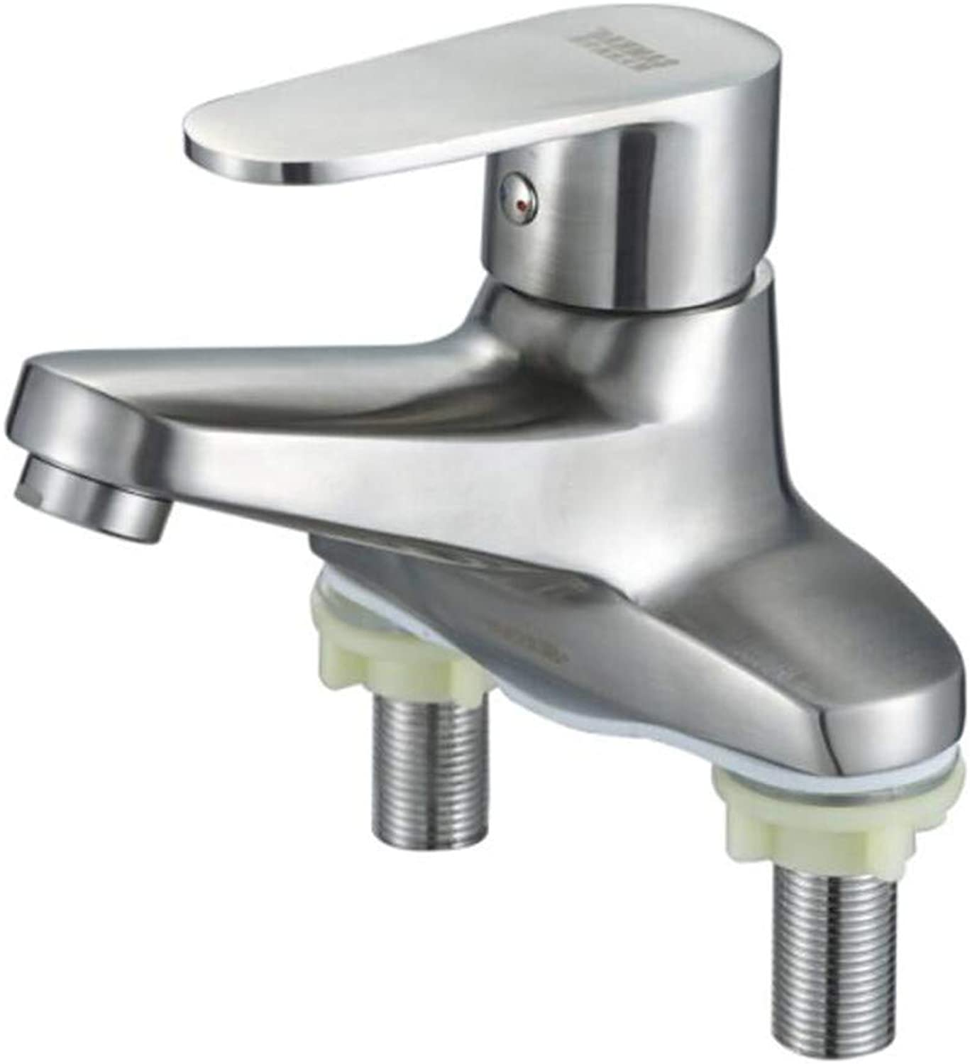 Faucet Waste Mono Spoutstainless Steel Basin, Double-Hole Cold and Hot Toilet Basin and Table Basin