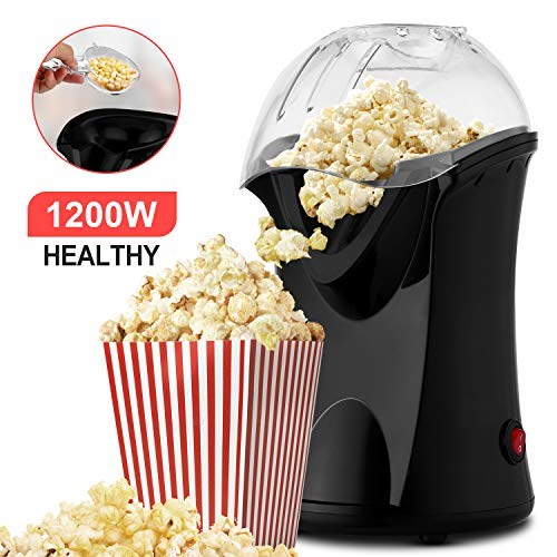 Fantastic Deal! Hot Air Popcorn Maker, 1200W Fast Hot Air Popper with Measuring Cup, Easy To Clean, ...