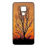 DKE&HXL Coque Huawei Mate20 Branche Nature Brindille Jaune Feuille Arbre Orange
