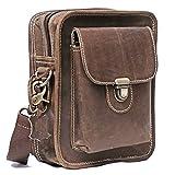 Chiko Leather Crossbody Waist Bags - Side Purse - Shoulder Sling Bum Bag - Fanny Pack, Hip Bag, Stylish Travel Pouch Handbag, Bicycle Bag, Small Dopp Kit Bag, Gift for Men Women - 11 inch
