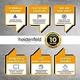 Heidenfeld Infrarotheizung HF-HP100 800 Watt Weiß - inkl. Thermostat - 10 Jahre Garantie - Deutsche Qualitätsmarke - TÜV GS - Für 12-19 m² Räume (HF-HP100 800 Watt) - 3