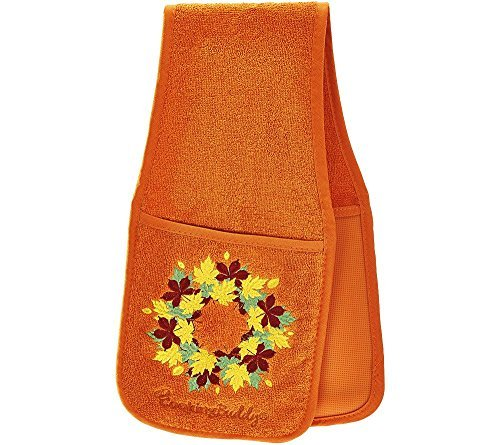 Campanelli's Cooking Buddy Pot Holder - Professional Grade All-in-One Non-Slip Silicone Potholder, Hand Towel, Lid Grip, and Trivet - Heat Resistant up to 500ºF - As Seen On QVC (Harvest Spice)