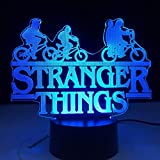 Stranger Things American Web serie de TV Led luz nocturna 7