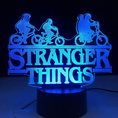 Stranger Things American Web Série TV Led veilleuse 7 couleurs changement capteur tactile chambre veilleuse lampe de Table meilleur cadeau