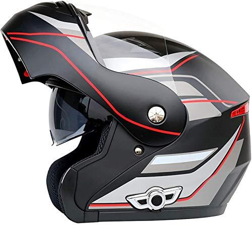 YCRCTC Casco modular con Bluetooth, con certificación DOT/ECE para motocicleta, con doble visera antivaho, para motocicleta o motociclista, adulto en cuatro estaciones