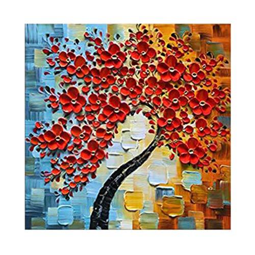 Pinturas al óleo sobre Lienzo Decoración de Pared para Salon, Pintura con EspáTula, Cuadros, Arte de Pared Rojo, Ilustraciones, Dormitorios,B,20