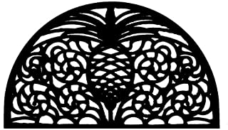 Imports Decor Half-round Rubber Doormat, Pineapple, 18-Inch by 30-Inch