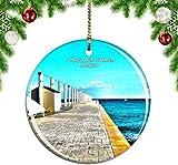 Mesllings México Playa del Carmen - Adorno para árbol de Navidad (porcelana, 7,6 cm)