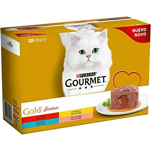 Purina Gourmet Gold Fondant comida para gatos Surtido sabores 8 x [12 x 85 g]