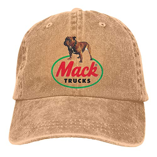 Vintage Denim Caps, Mack Truck Hat Cotton Washed Adjustable Trucker Baseball Cap Dad Hats