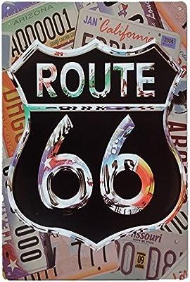 MARQUISE & LOREAN Ruta 66 Decoración Pared | Placa ...